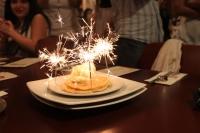 誕生日ホットケーキ