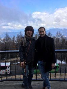 ドゥニと富士山四合目