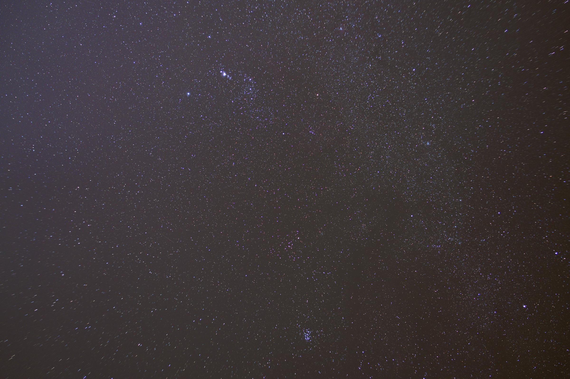 オリオンとアンドロメダ大星雲